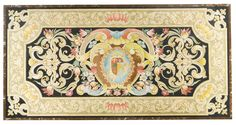 AN ITALIAN BAROQUE STYLE SCAGLIOLA PANEL 19TH CENTURY width 74 in.; depth 37 1/2 in. 188 cm; 95.5 cm