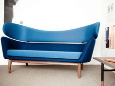Blue Baker Sofa by Finn Juhl
