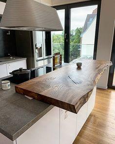 Rustic Kitchen Design, Luxury Kitchen Design, Kitchen Room Design, Home Room Design, Home Decor Kitchen, Kitchen Interior, Closed Kitchen Design, Open Plan Kitchen Living Room, Rustic Home Interiors