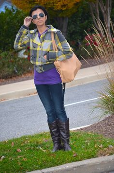 Yellow and Grey Plaid  #ootd #jeansoutfits #fashionideas #lookbook #mariestilo #fashion #look #mystyle #trend #aboutalook