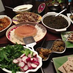 Delicious Persian food. Just like home