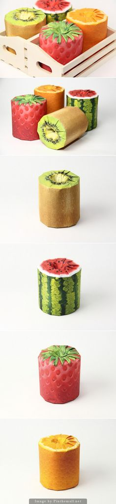 Fruits Toilet Paper (Concept)- Creative Agency: Latona Marketing Inc. on Packaging of the World