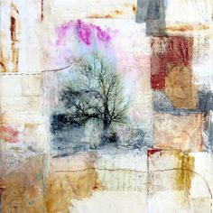 Aftermath by Bridgette Guerzon-Mills - mixed media encaustic painting 12x12 inches