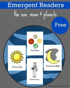 FREE emergent readers: The sun, moon, and planets from The Measured Mom