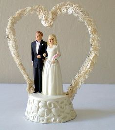 1940's Wedding Cake Topper