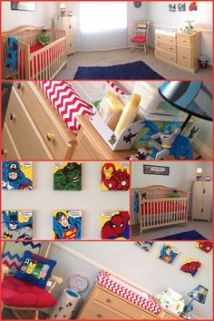 My Happy Place!!! Can't wait for Baby Jadon to share it with me!!! Superhero Nursery !!!