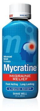 Mycratine Migraine Relief Advanced Formula is a patented, fast-acting homeopathic complex formula that activates the neurological receptors in the brain to bring it back into balance. It begins to relieve the pain and symptoms of migraines within several minutes... For more info, see http://www.amazon.com/Mycratine-Migraine-Relief-Advanced-Formula/dp/B0094ASXUQ/ref=pd_sim_hpc_3?t=professoscodi-20