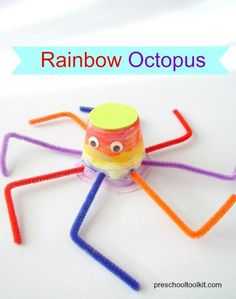 Preschool Toolkit - Rainbow octopus craft