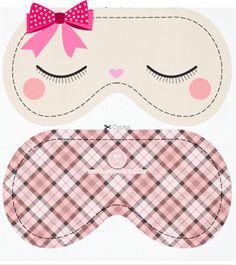 Meninas, A pedido da Simone Germano (Guarulhos-SP) fiz um modelo de tapa-olho de lembrancinha para uma Noite do Pijama que ela fará. Só l...