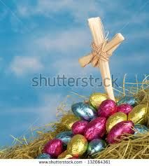 Image result for cross and easter eggs