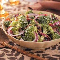 Cranberry Broccoli Salad Recipe-read comments for variations on how to make it less fatty