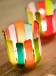 Candle holder. Design by MikkalinaGlas. For more see www.mikkalina.com