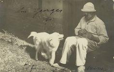 poboh:  Self Portrait with his dog, 1925, Constantin Brancusi. (1878 - 1957)