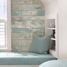 Beachwood Peel And Stick Wallpaper Roll Coastal Colors, Home Depot