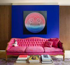 String & Nail Art 'Pink Lotus on the Water'. by DantheStringArt