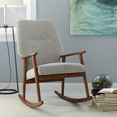 High Back Rocking Chair Cool for a bedroom Corner....SM