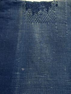 A Beautifully Faded and Mended Indigo Cotton Noragi