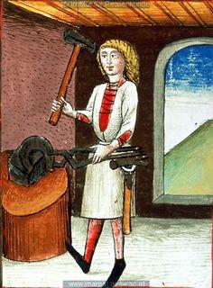 Schmied   Dieses Bild: 006734     1479 ; 1479 ; Wien ; Österreich ; Wien ; Österreichische Nationalbibliothek ; cod. 3049 ; fol. 64v