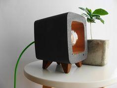Concrete lamp nachtlampje Nachttischlampe Lampe door Handcraftsquare