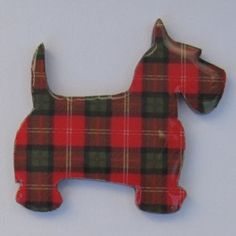 Scottie Brooch lapel pin lazer cut tartan pet by decocollection, $8.50