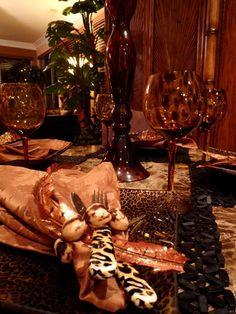 Joy/Leopard Christmas Table