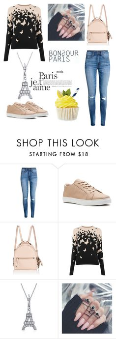 """Bonjour Paris I Love You"" by amraaaaa ❤ liked on Polyvore featuring H&M, Fendi and Bling Jewelry"