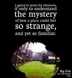 So strange, and yet instantly familiar..../big fish