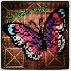 Pink & Purple Butterfly perler