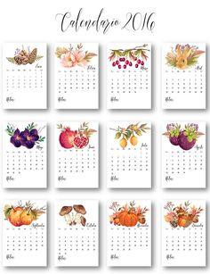 Calendarios 2016 para imprimir. |  THEBBT   Agenda | Calendario | Organizadores | Organización | Planes | Metas Table Calendar, Calendar Layout, Art Calendar, Calendar Design, Bullet Journal Cover Ideas, Bullet Journal Art, Cardboard Crafts Kids, Diy Agenda, Planner Pages