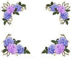 Four Corner Flowers Notebook Border Design sadiakomal