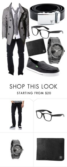 """""""Hot Rod Mission Belt"""" by kristinmadsen ❤ liked on Polyvore featuring Diamond Supply Co., Nixon, sanuk, mission belt, white, gray, mens, belt and black"""