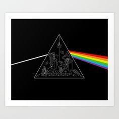 The Dark Side of the Process Art Print by Enkel Dika - $18.00