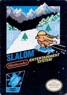 Nintendo NES game - Slalom US cartridge Classic Nes Games, Classic Video Games, Snes Classic, Nintendo Systems, Nintendo Games, Game Boy, Sega Genesis, Wii U, Xbox One