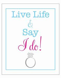 live life & SAY I DO engagement ring diamond  by LiveLifeAndLove, $10.75