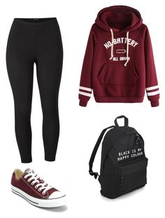 """""""Outfit"""" by vicky-skoufh on Polyvore featuring Venus, Converse, school and plus size clothing"""