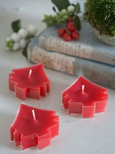 Red Xmas Tree Tealights - Nordic House