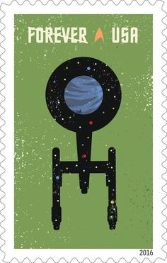 USPS to Celebrate 50th Anniversary With Star Trek Stamps in 2016 – Designed by The Heads of State, each stamp showcases one of four digital illustrations inspired by elements of the iconic Star Trek: The Original Series. Antonio Alcala served as the project's art director.