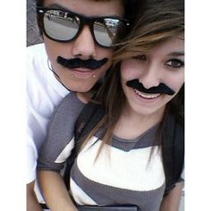 I mustache you a question, but ill shave it for later :D Cute Relationship Photos, I Want A Relationship, Cute Relationships, Cute Couples Photos, Cute Couple Pictures, Couple Pics, Beautiful Young Lady, Young Love, Romantic Photography