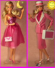 Just reverse the skirt, and POW!  Whole new look.  Great for a quick change after a one-night-stand, Babs!  Night-to-Day Barbie.