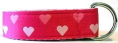 #Valentines Day is a few weeks away, dress up your little princess in our Pink Hearts #Belt or #gift her this adorable belt! www.CuteBeltz.com
