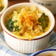 A potato-chip topping is a tasty way to add some crunch to this vegetarian casserole. It's just the right amount of salt to complement sweet cream-style corn and hearty broccoli and cheese. $1.39 per serving