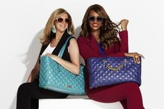 Joy and Iman with their Fashionably Functional handbag hits | Accessories
