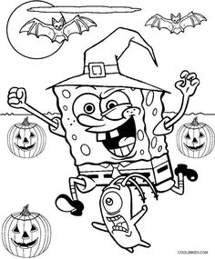 Spongebob Halloween Coloring Pages Printable And Book To Print For Free Find More Online Kids Adults Of