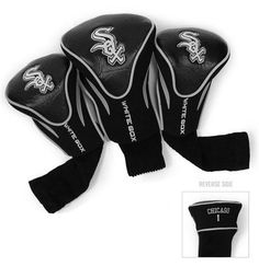Chicago White Sox Contour Gollf Club HeadCover - 3 Pack