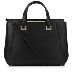 Black Soft Smooth and Soft Calf Leather Tote Bag