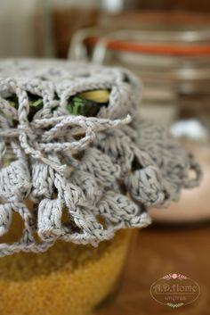 serwetki szydełkowe, serwetki na słoiki, crochet, hand made, rękodzieło, Pracownia A.D.Home
