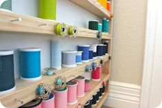 Instructions to make this Sewing Over Pins: Tutorial: DIY Thread Spool & Bobbin Storage