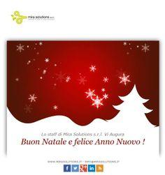 Lo staff di Mira Solutions s.r.l. Vi Augura Buon Natale e felice Anno Nuovo !