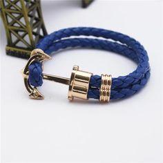 Men's Vintage Anchor  Bracelet  8 Colors Avaialble!