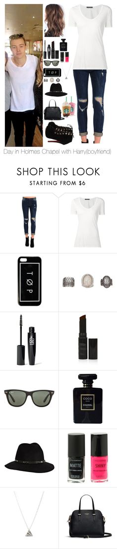 """""""Day in Holmes Chapel with Harry"""" by myllenna-malik ❤ liked on Polyvore featuring Siwy, The Row, Hot Topic, BKE, Topshop, Ray-Ban, Chanel, Anine Bing, OneDirection and harrystyles"""